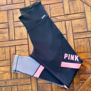 PINK VICTORIA'S SECRET LEGGINGS SIZE M